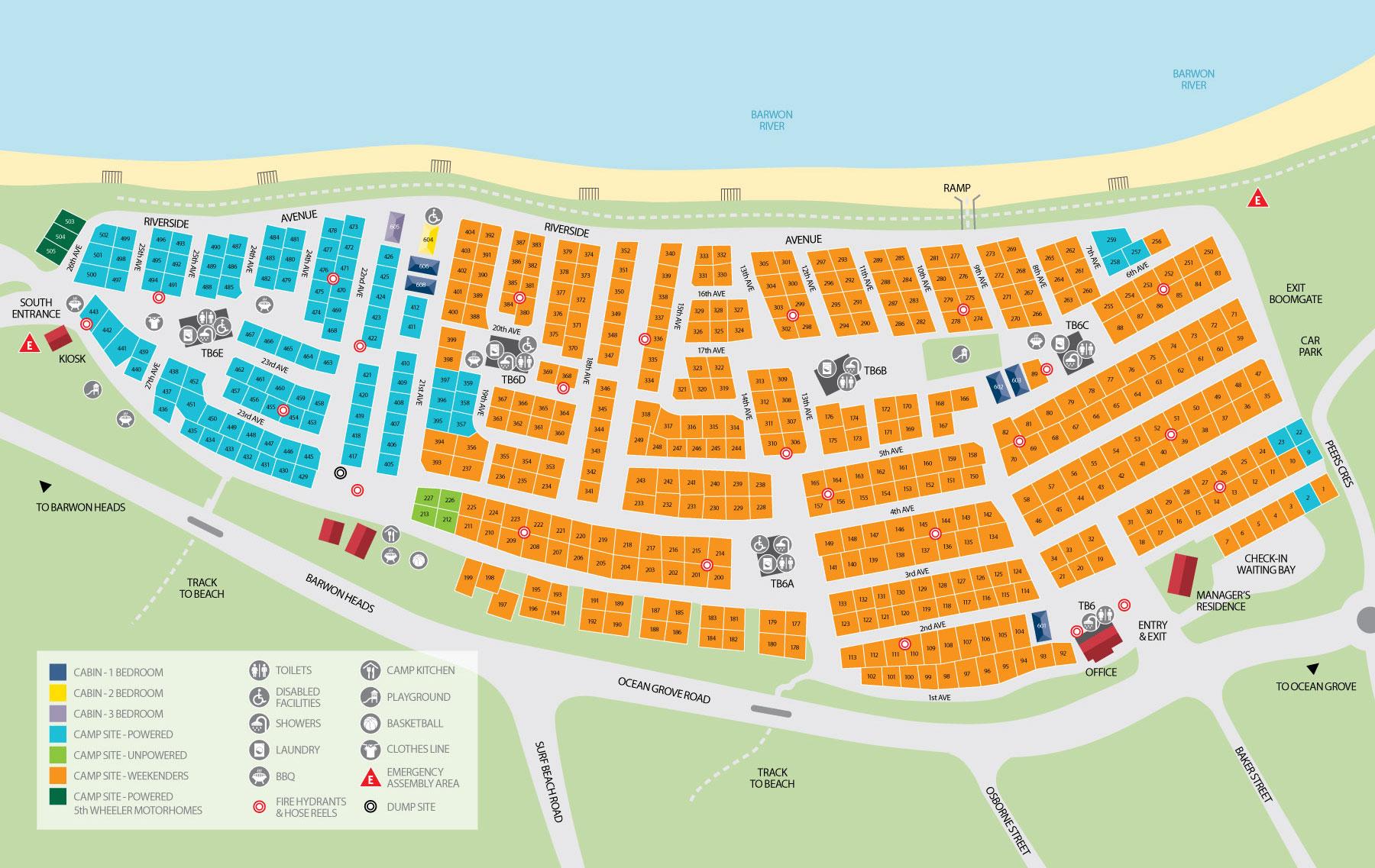 riverview caravan park map