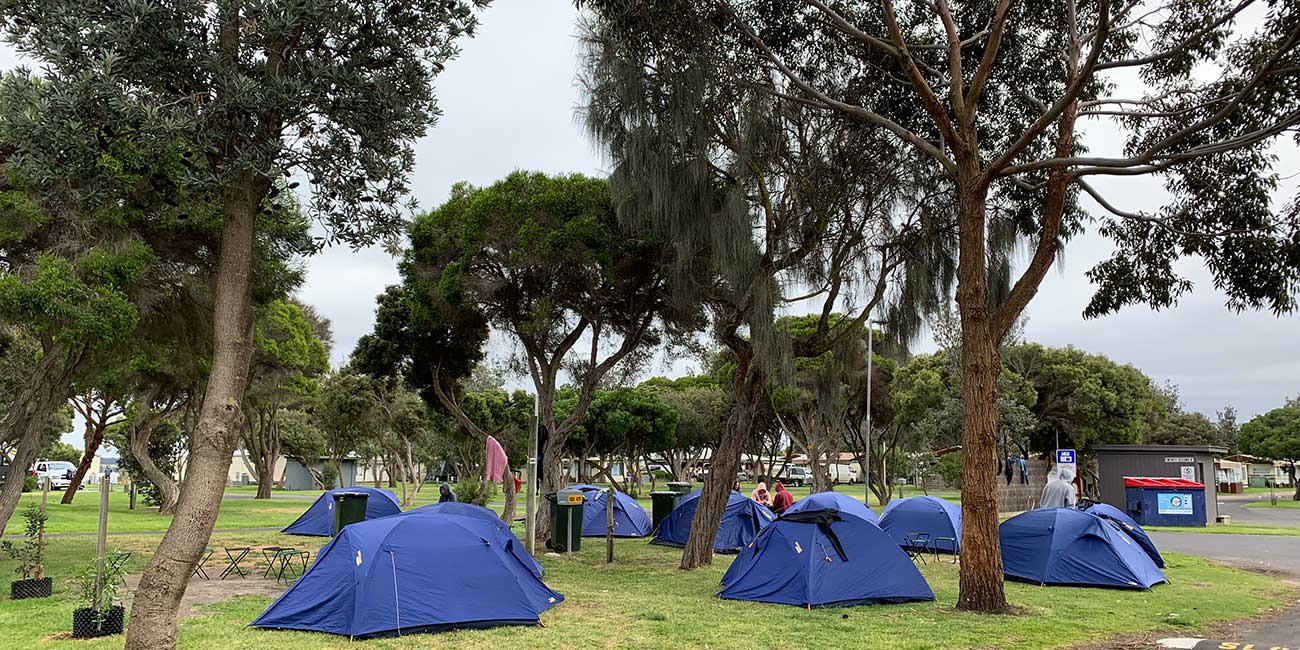 group tent accommodation ocean grove